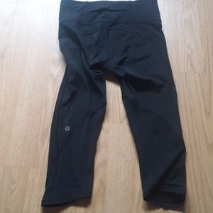 Lululemon black luxtreme capri pants size 4